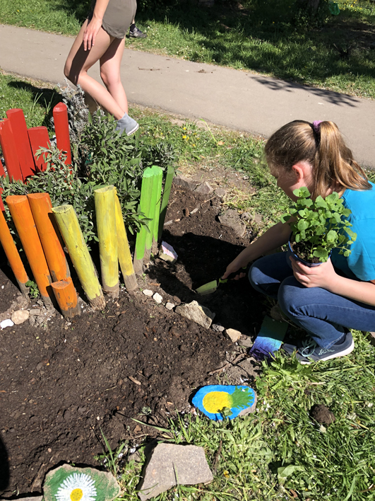 Gartenprojekt Kräuterspirale klein